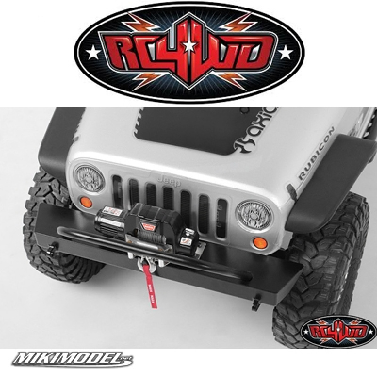 RC4WD Tough Armor Front Tube Bumper w//Winch Mount for Axial SCX10 Z-S0765