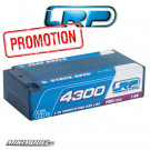 LRP 4300 - Shorty Stock Spec - 110C/55C - 7.4V LiPo - 1/10 Competition Car Line Hardcase