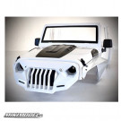Jeep Hard Plastic Body Kit 313mm (Parts A) Ver.2 For Axial SCX10 II RC4WD TF2 White